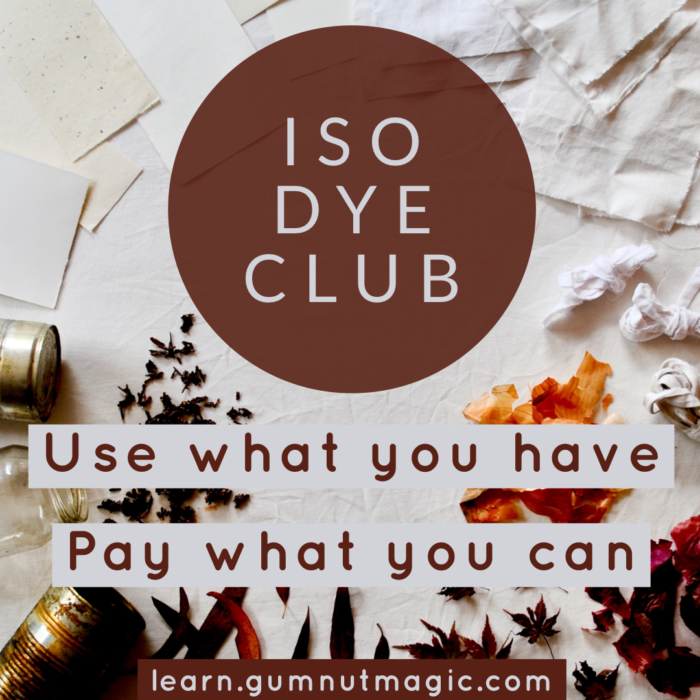 Iso Dye Club eco-printing and natural dyeing ecourse